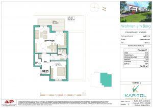 """2 - Zimmer - Wohnung in gehobener Bauweise in unserem Projekt """"Wohnen am Berg"""""""