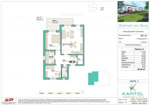 """3 - Zimmer - Wohnung in gehobener Bauweise in unserem Projekt """"Wohnen am Berg"""""""